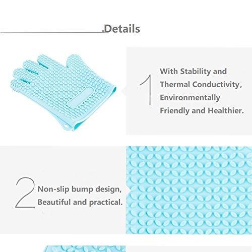 Elegantes manoplas de silicona para horno y soportes para ollas, resistentes al calor, flexibles, guantes...