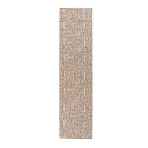 Flair Rugs - Alfombra alargada para pasillo modelo Skyline Pinnacle (57x230cm/Gris)