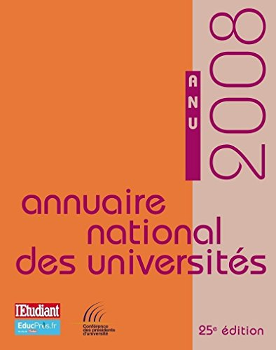 ANNUAIRE NATIONAL DES UNIVERSITES 2008
