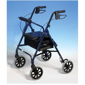 Able2 Aluminium 4-wheel Rollator Walker (Blue)
