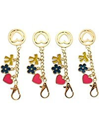 Tribalzone Heart Shape Key Chain For Couple