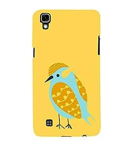 Fiobs Designer Back Case Cover for LG X Power :: LG X Power K220DS K220 (Bird Art Symbol Feather )