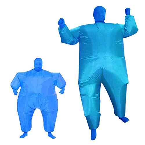 1949shop Aufblasbare Fat Chub Funny Suit Kostüm Blow Up Halloween-Kostüm (Blau)