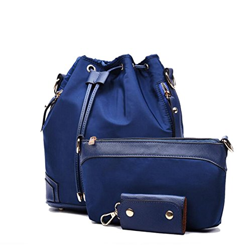 Tre Set Elegante Versatile Tempo Libero Comodo Borse Blue