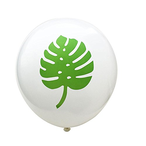 15 Stück Flamingo Ananas Schildkröte Blatt Latex Luftballons, 12 Zoll Konfetti Luftballonsfür Hochzeit Geburtstag Party Decor
