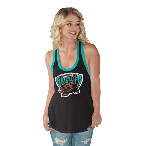 GIII For Her NBA Vancouver Grizzlies Women's Power Play Color Block Tank Top, X-Large, Black