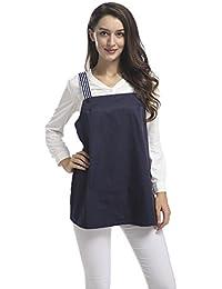LAMA QUEEN - Robe spécial grossesse - Tunique - Sans Manche - Femme bleu bleu marine