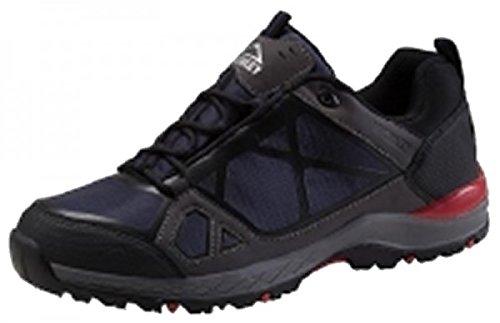McKINLEY Herren Trekking Wander Outdoor Schuhe Kona III Low Boots Aquamax 274491, Größe:44, Farbe:902 BLACK/NAVY DARK/RED / Schwarz Rot Blau