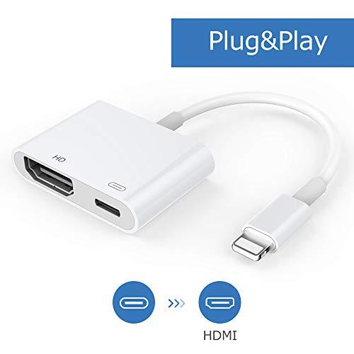 HDMI Kabeladapter, 1080P Digital AV Adapter mit Buchse, HDMI Sync Bildschirmanschluss Kompatibel mit Telefon/Pad [Stromversorgung erforderlich]