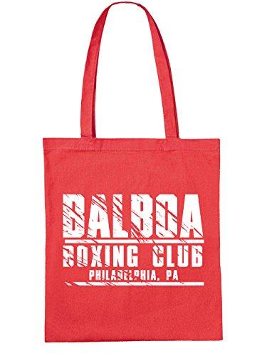 clothinx Einkaufstasche Balboa Boxing Club Rot