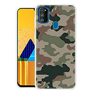 Fashionury Army Print Printed Mobile Soft Back Cover Case Compatible for Samsung Galaxy M30s