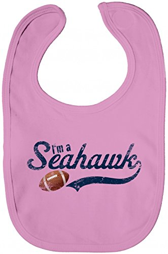 Seahawk Babybib #1 Football Super Bowl USA American Sports, Farbe:Rosa (Bubble Gum Pink BZ12);Größe:OneSize ()