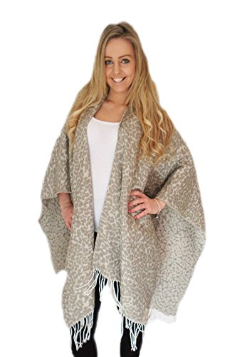 Boutique, Châle et vêtements vintage pour femmes Taupe/Cream - Leopard