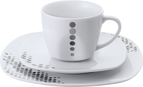Gepolana Kaffeeservice 18-tlg. Porzellan grau