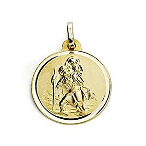 18K Gold Medal San Cristobal 18mm. Bisel [7572Gr] – Anpassbare – Aufnahme im Preis enthalten