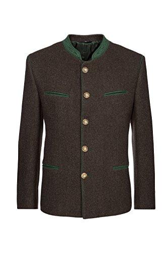 Stockerpoint - Herren Trachten Janker aus reiner Schurwolle, Stachus, Größe:50, Farbe:Braun