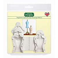 Mannequin Silicone Mould for Cake Decorating, Crafts, Cupcakes, Sugarcraft, Candies, Cards and Clay, Food Safe Approved, Made in The UK