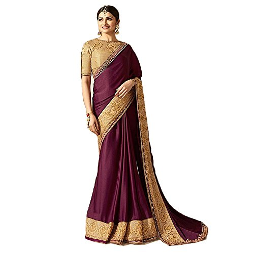 Macube Women's Multi Color Latest Partyware Sana Silk saree with embroidered blouse...