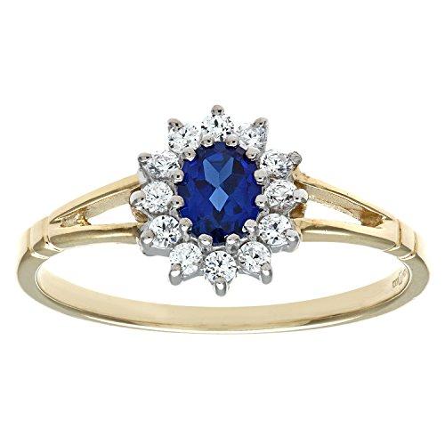 Citerna Damen-Piercing-Ring375 Saphir - DIV 006B(M)