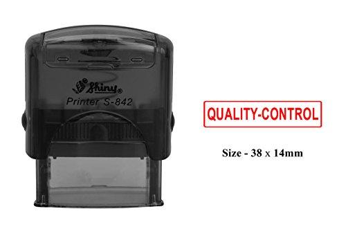 QUALITÄTSKONTROLLE Self Inking Rubber Stamp Benutzerdefinierte Shiny S-842 Office Stationary Stempel