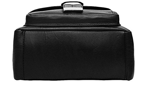 Gewaschene Lederhandtasche Schultertasche Mit Großer Kapazität Reisetasche Rucksack Mode Wilder Black