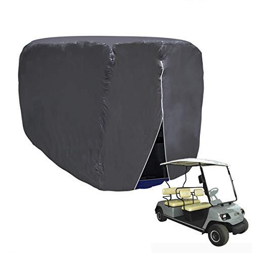 WISAMIC Golfwagen Abdeckung Abdeckplane 4 Passenger Golf Car Cart Cover für Yamaha Drive, EZ Go und Club Car, 285x122x168cm (Club Car Golf Cart Covers)