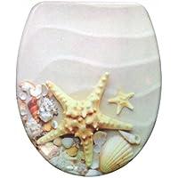 Sanwood 6166237Marina Abattant WC en Duroplast, motif, 44,9x 37,3x 5cm