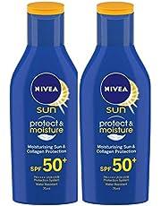 Nivea Sun Moisturising Lotion SPF 50, 75 ml (Pack of 2)