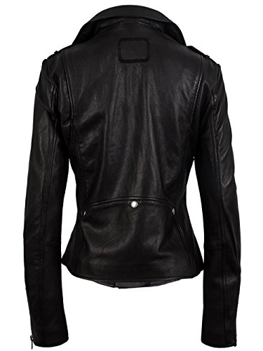 TIGHA Damen Lederjacke Vintage Black ALBA Neue Kollektion XL - 2