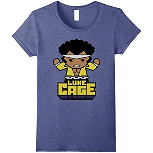 ropa kawaii para los mas guays Camiseta gruesa para mujer Luke Cage PowerMan Kawaii For Hire Medium Heather Blue
