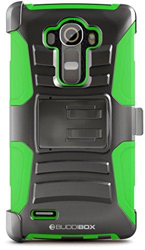LG G4Fall, buddibox [hseries] Heavy Duty Swivel Belt Clip Holster mit ausklappbarem Ständer maximalen Schutz Schutzhülle für LG G4, (grün) (Belt Clip Case-swivel)