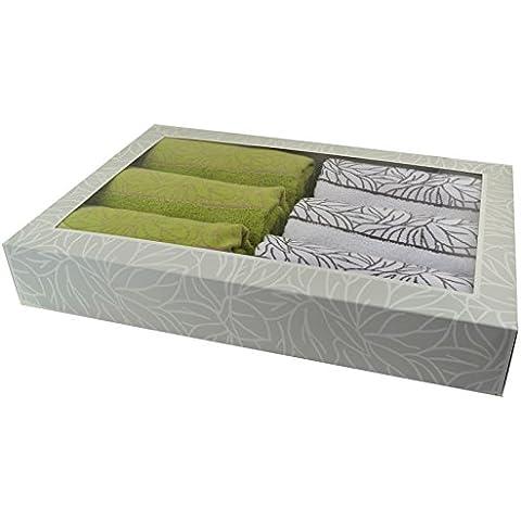 Asciugamano-set doccia-set, 6 asciugamani (50 x 100)