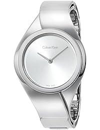 Calvin Klein Femme Montre bracelet quartz analogique en acier inoxydable k5N2s126