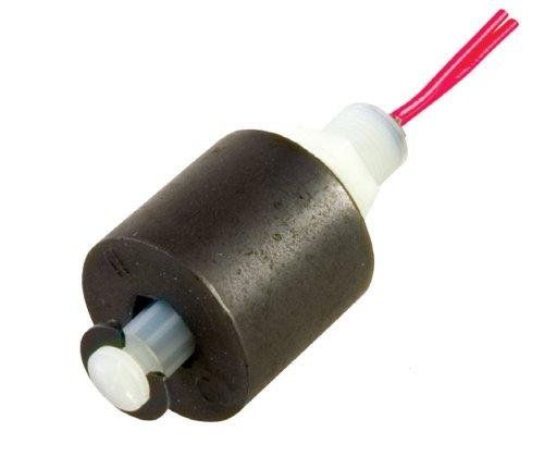 Gems Sensors 42295 LS-3 Serie Kompakter Einzelpunkt-Niveauschalter, Polysulfon, 0,8 cm NPT, NO/NC, fliegende Leitungen, Nylon/Buna N, Flying Leads, 1 -