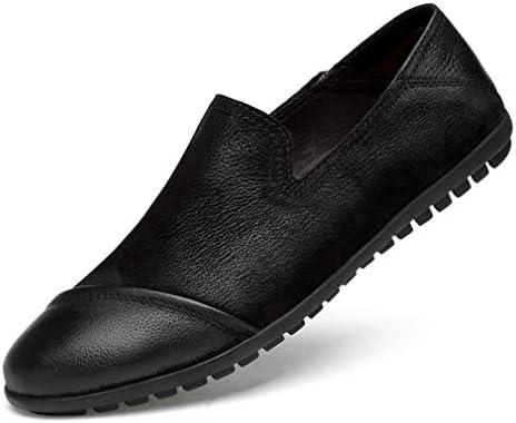 Zapatos de Hombre de Cuero Slip On Caballero Negro/marrón Zapatos de Cuero 2018 Casual Street Fashion Zapatos...