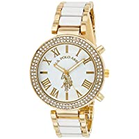 U.S. Polo Assn. USC40065 Women's Quartz Watch, Analog Display and Stainless Steel Strap