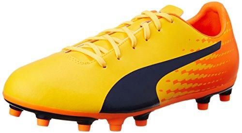 Puma Evospeed 17.5 FG, Chaussures de Football Homme, Jaune (Ultra Yellow-Peacoat-Orange Clown Fish 04), 43 EU