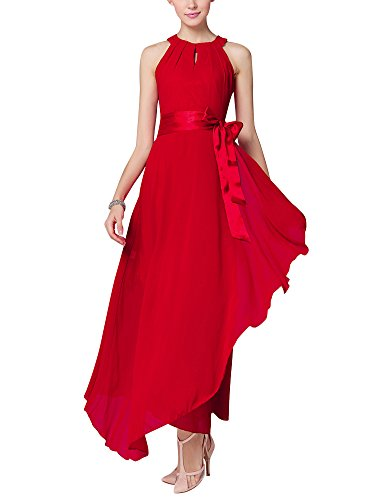 Longue Robe Femme Swing Soirée Cocktail Party Robes Rouge