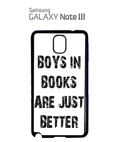 Boys in Books are Just Better Mobile Cell Phone Case Samsung Galaxy S4 Mini Black Blanc