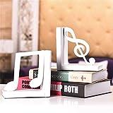 ZzheHou Fermalibri Una Nota della Tabella del Modello Artistico di Riposo Reggilibri Decorato Supporto di Resina for La Casa Divisori di Libri per Mensole (Color : White, Size : Free Size)