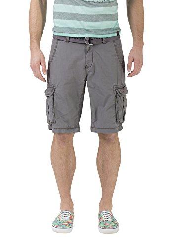 Timezone Herren Loose Maguire incl. Belt Shorts, Grau (Beluga Grey 9162), W29 -