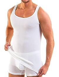 HERMKO 3018 Lot de 5 Débardeur de sport Homme double côte en 100% coton européen Maillot de corps lavable à 95°C