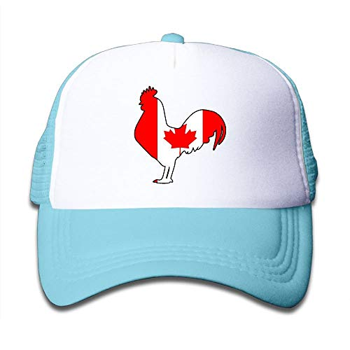 mchmcgm - Mütze Youth Boy and Girls Baseball Caps,Canada Flag Rooster Mesh Hat Summer Trucker Cap