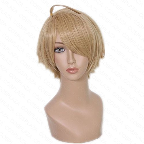 COSPLAZA Perruque America Axis Powers hetalia Anime Cosplay Wig synthétique Cheveux with Ahoge