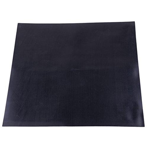 30 x 30 cm 1mm Dicke Schwarzes Industriegummi-Platte Hochtemperatur-Platte Matte Hohe Qualität