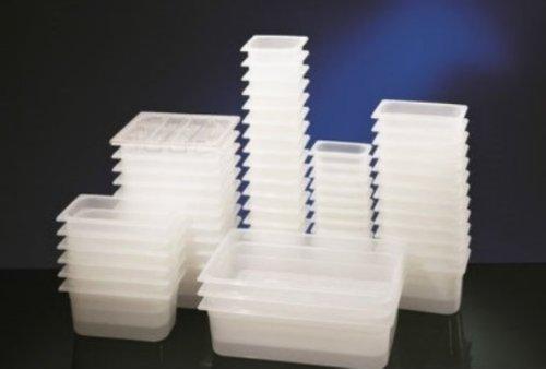 GN Behälter Gastronormbehälter 1/2 – 200 mm Tiefe aus Kunststoff transparent 1A Qualität