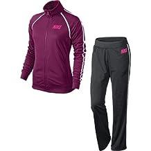 Nike The Club Warm Up - Chándal de fitness y ejercicio para mujer, color rojo / blanco, talla L
