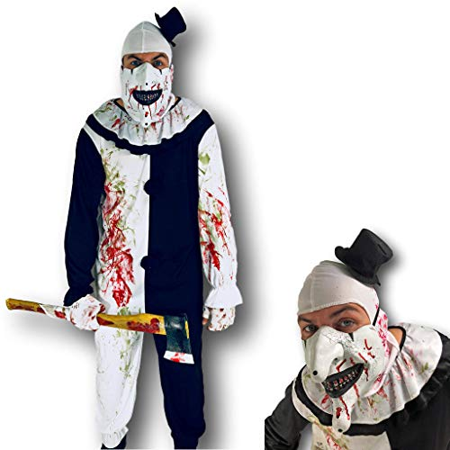 Erschreckendes böses Clown-Kostüm, Rubber Johnnies ®, Erwachsene Größe, Circus Scare (Erwachsene Für Böse Clown-kostüme)