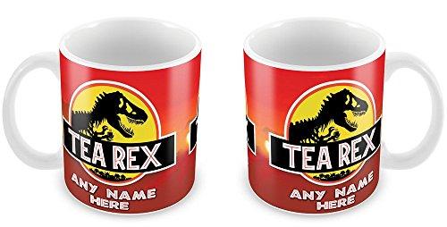 Personalised Tea Rex Jurassic Park Mug Gift