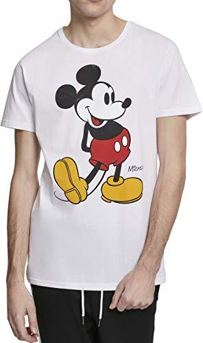 MERCHCODE Mickey Mouse Camiseta, Hombre, Blanco, Large